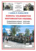 Konvoj vojenských historických vozidel