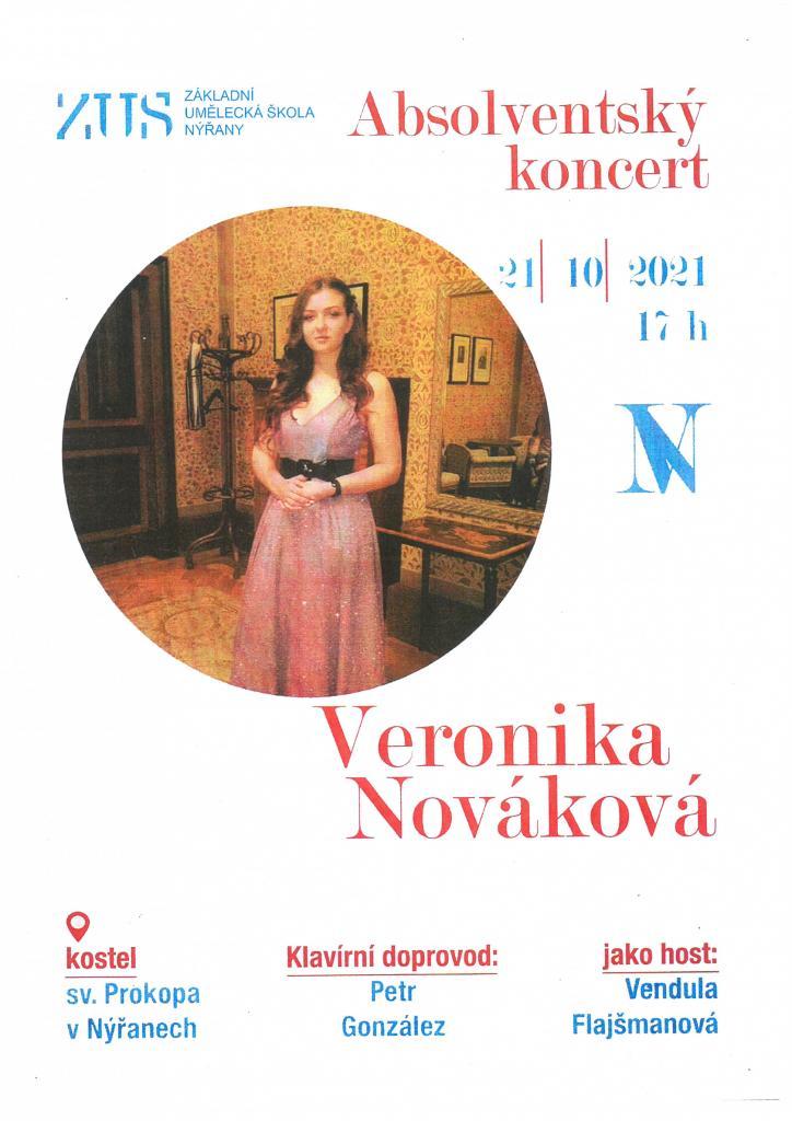 Absolventský koncert Veroniky Novákové
